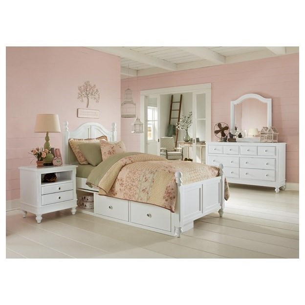 Ne Kids Lake House Twin Bed With Arched Headboard And Underneath Storage Belfort Furniture Panel Beds