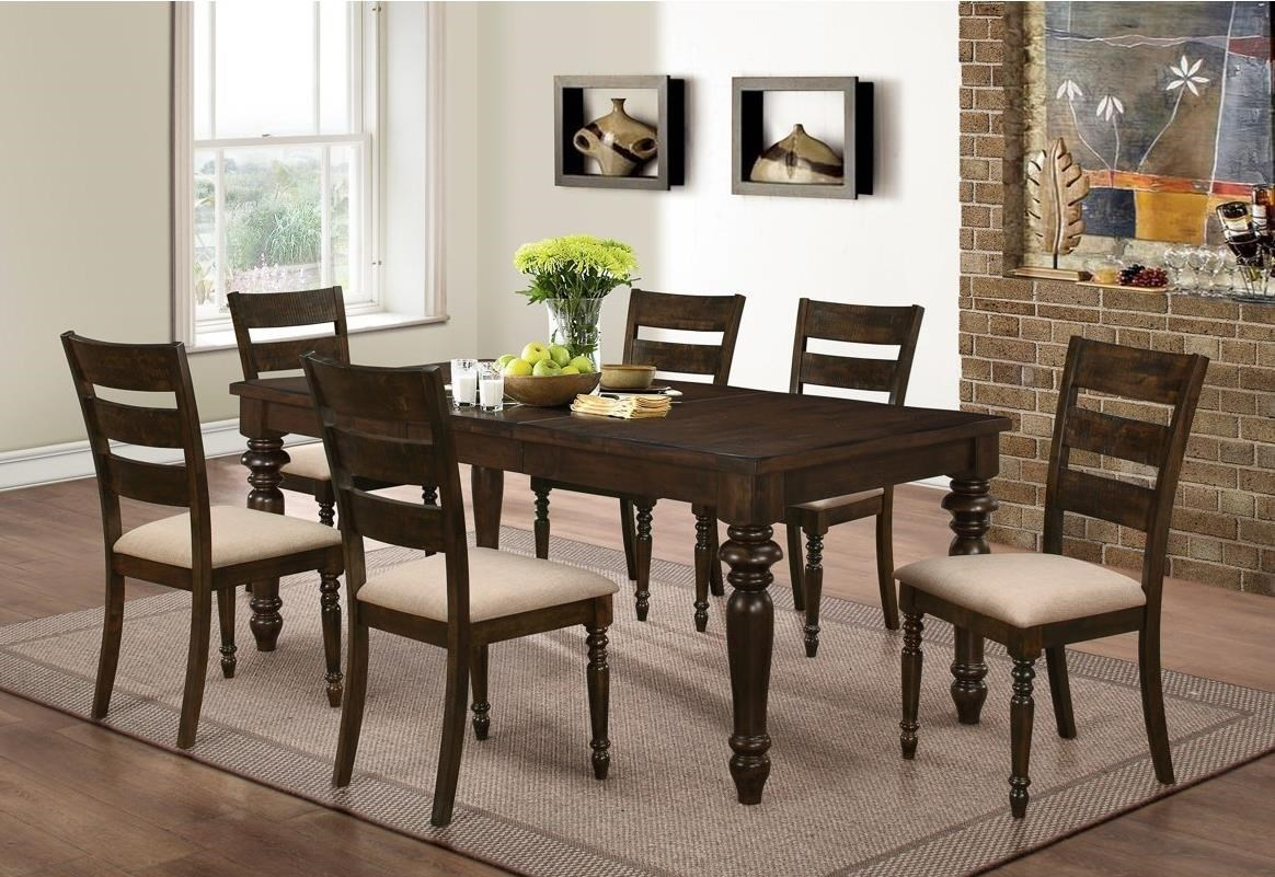 New Classic Annandale 7 Piece Dining Set With Upholstered Side Chairs Wilcox Furniture Dining 7 Or More Piece Sets