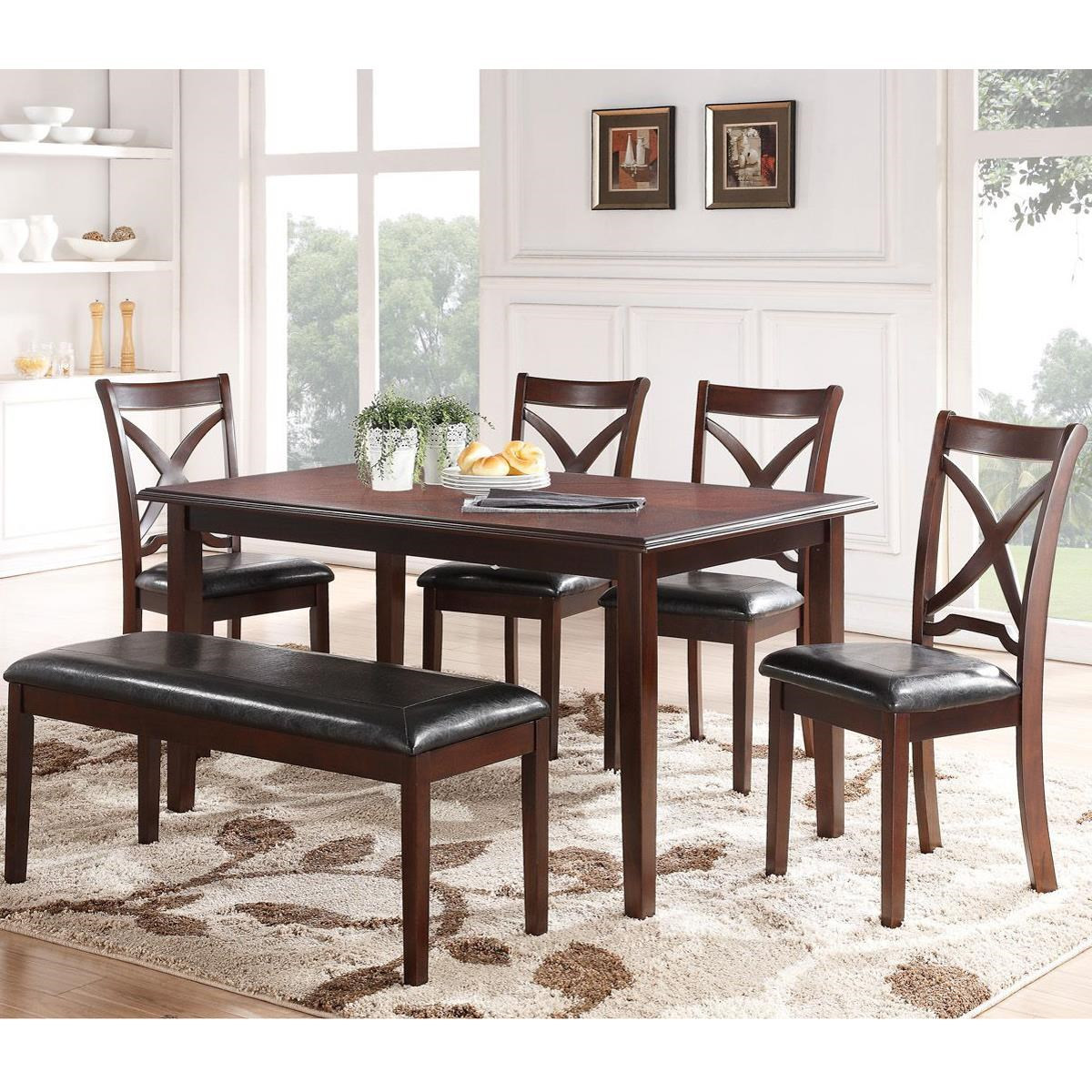 Dining Room Chair Sets Milo Dining Table And Chair Set With A Bench And Tapered Feet By New Classic At Wilcox Furniture
