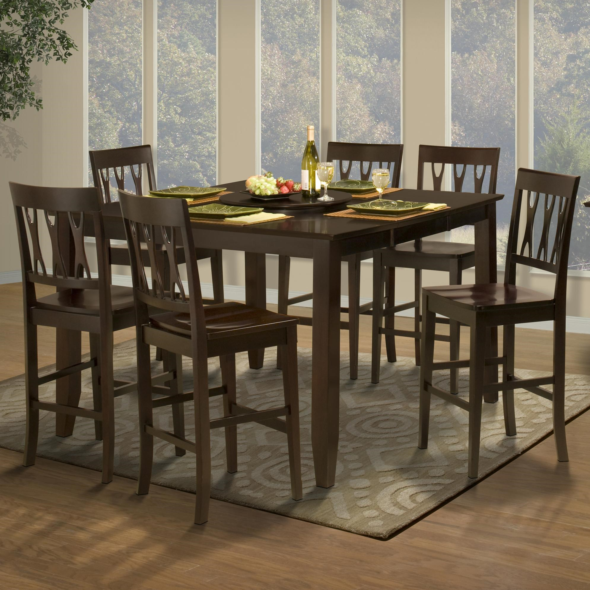 Styles Of Chairs Style 19 7 Piece Counter Height Table And All Wood Abbie Chair Set By New Classic At Rife S Home Furniture