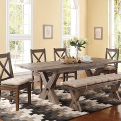6 Piece Living Room Set Townhouse Decorating Ideas New Classic Tuscany Park Trestle Dining Table And Cushioned Park6