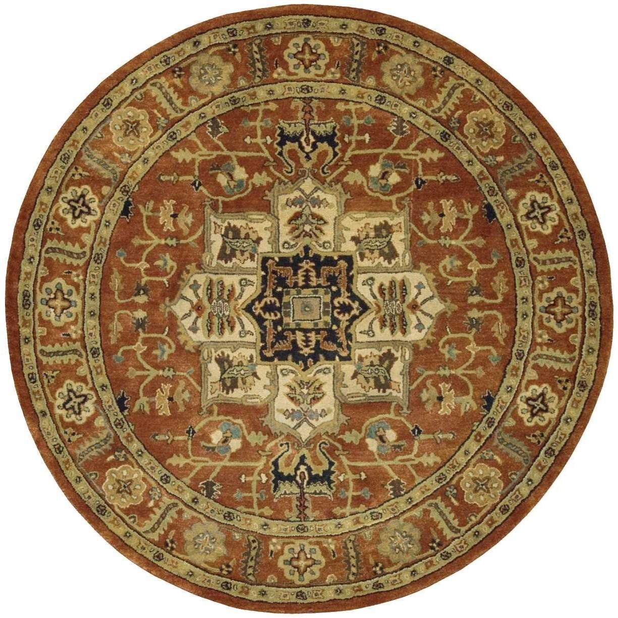 jaipur 8 x 8 brick round rug