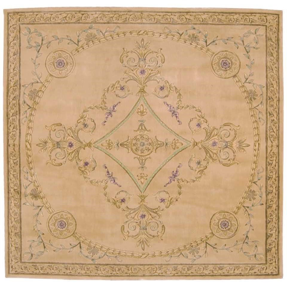 versailles palace 8 x 8 beige square rug by nourison at home collections furniture
