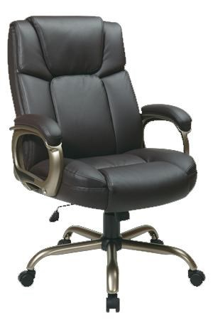 office star chairs table chair rentals executive eco leather big man s with espresso seat and back