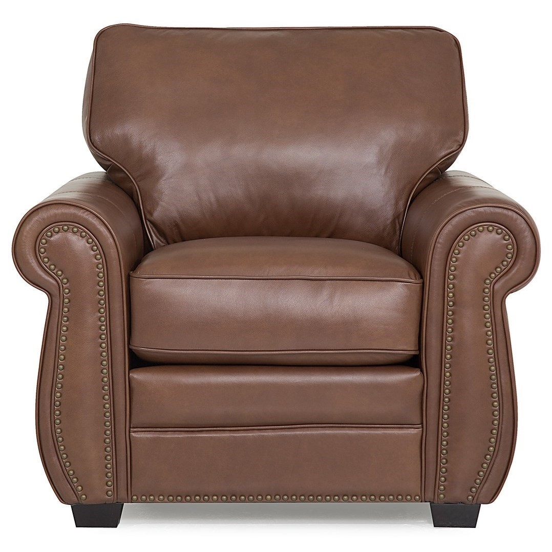 Plush Chairs Palliser Thompson 77792 02 Contemporary Plush Chair With Exposed