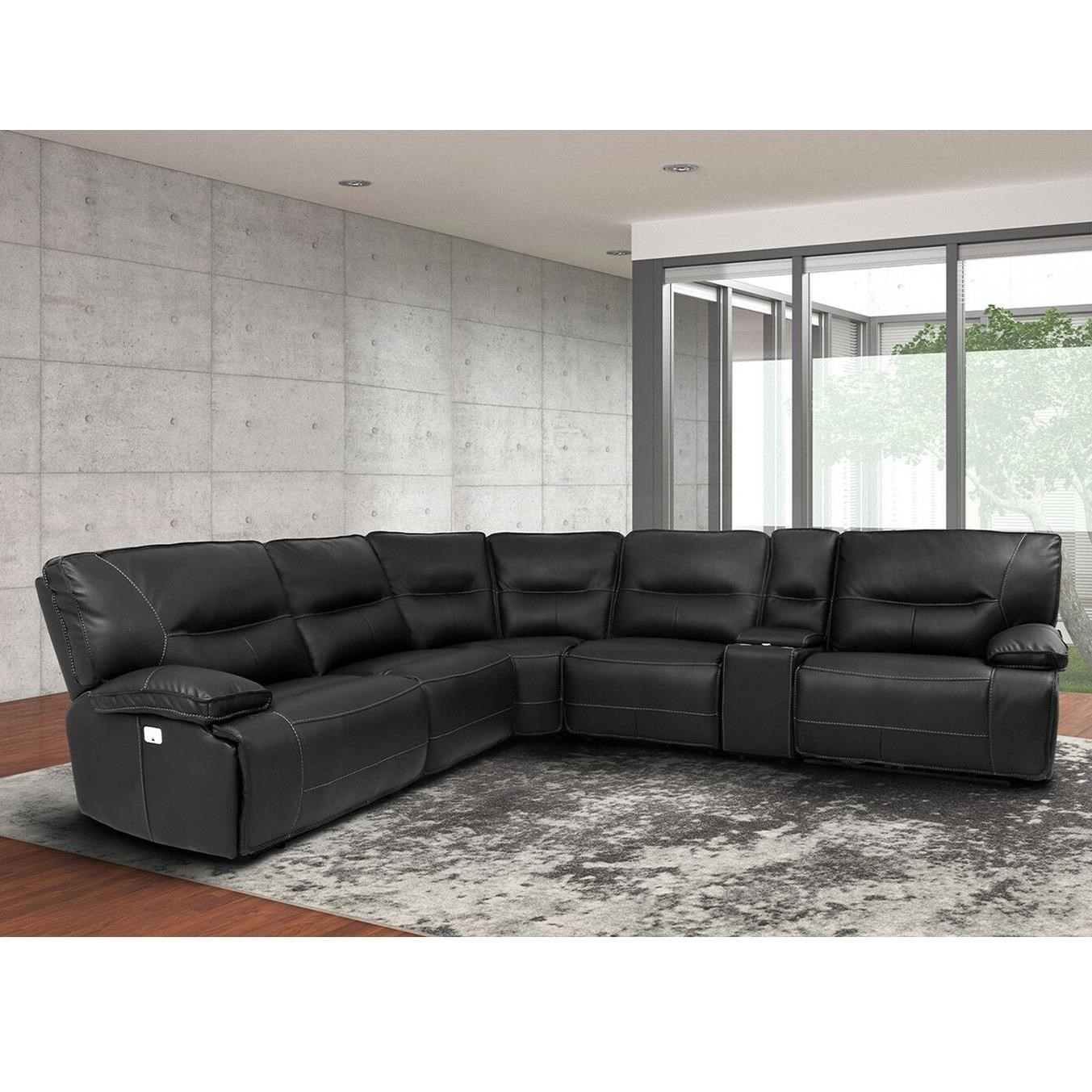 spartacus power reclining sectional