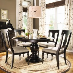 Paula Deen Table And Chairs Chair Design Nz By Universal Home Round Dining W 4 Splat Back Side