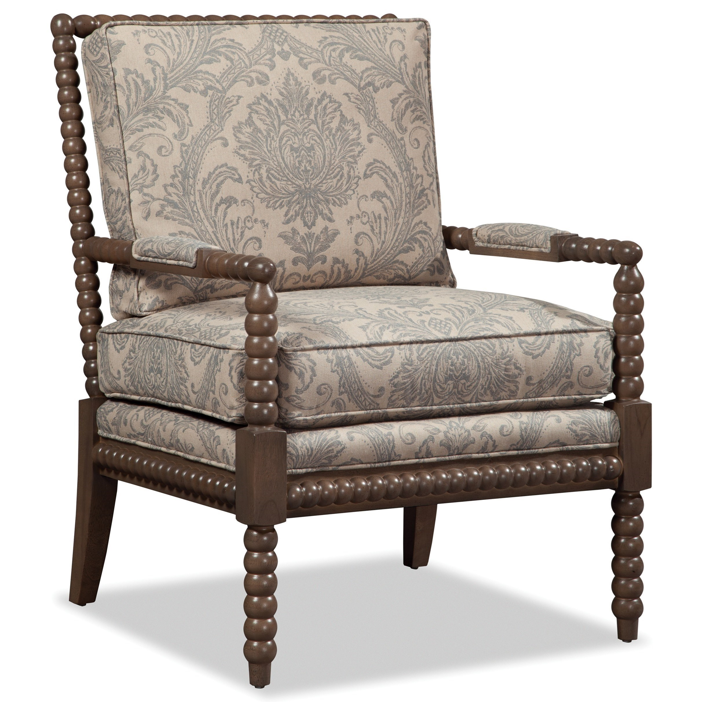 craftmaster chair and a half feet protectors paula deen by upholstered accents traditional spool turned