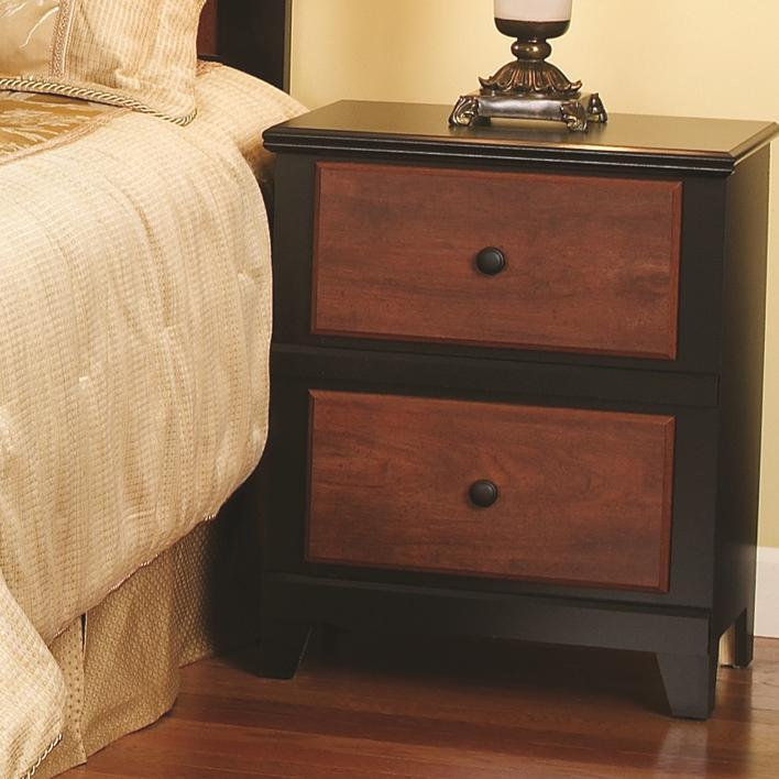 Perdue 49000 Series Cinnamon Black 2 Drawer Nightstand