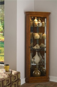 Pulaski Furniture Curios Golden Oak II Corner Curio ...