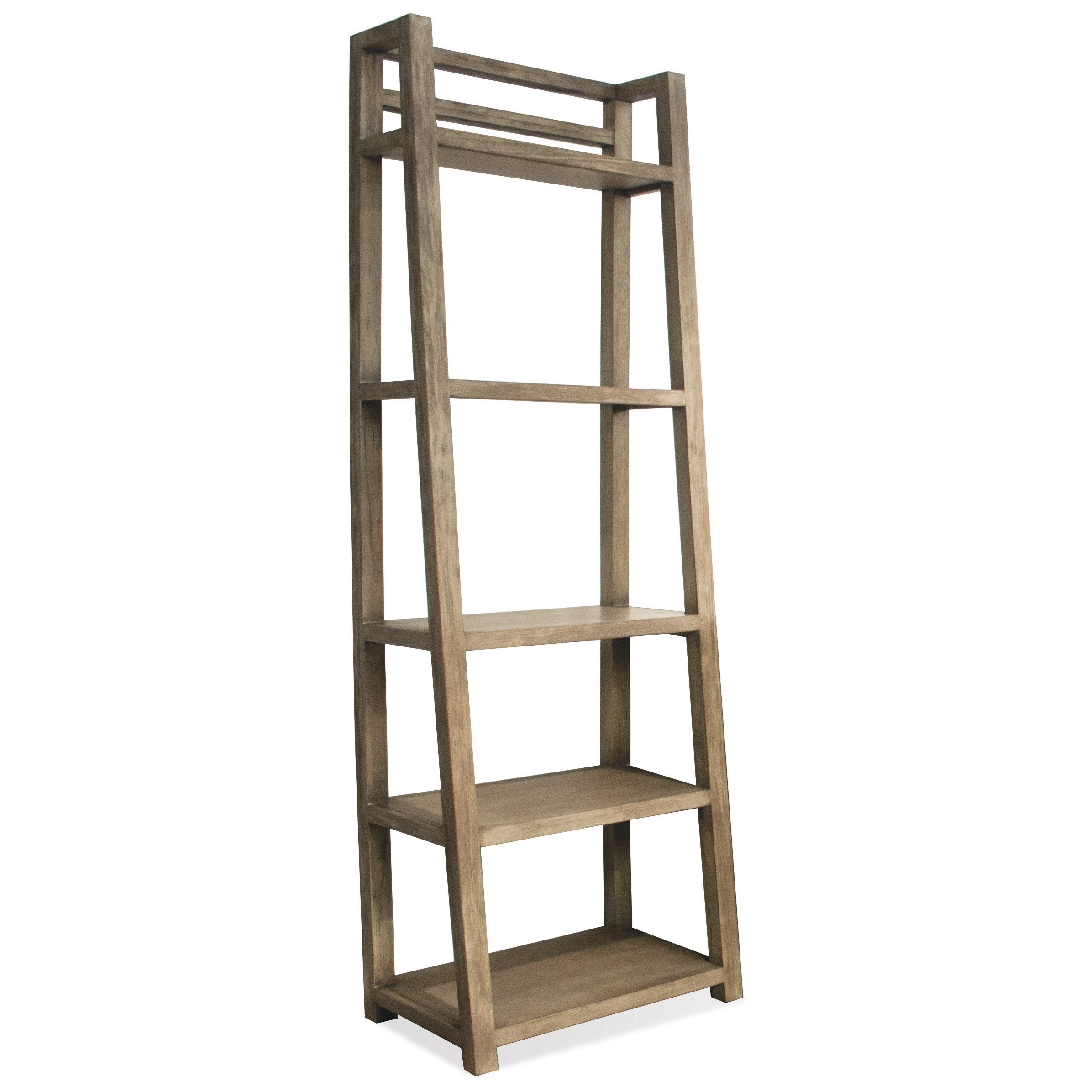 Riverside Furniture Perspectives Leaning Bookcase with 5