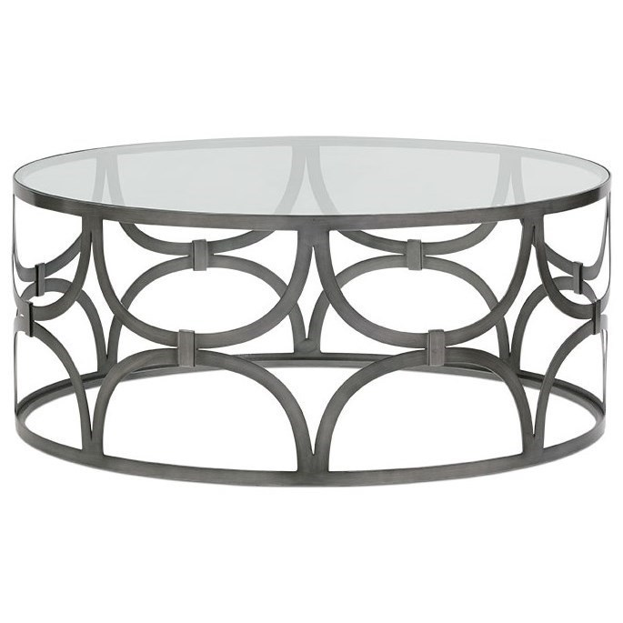 rowe poeme metal round cocktail table