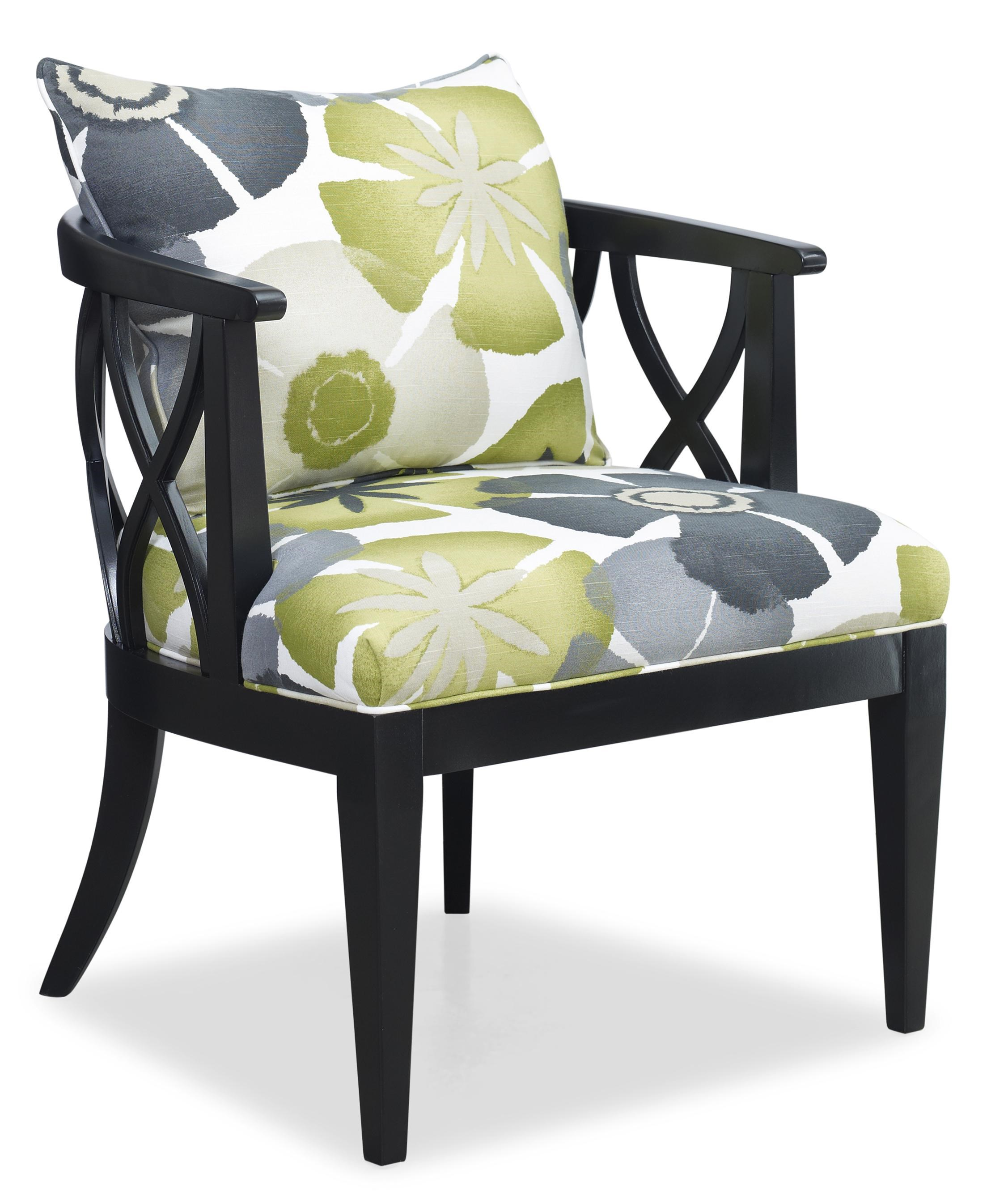 Sam Moore Chairs Sam Moore Verona Contemporary X Lattice Chair With Loose Pillow