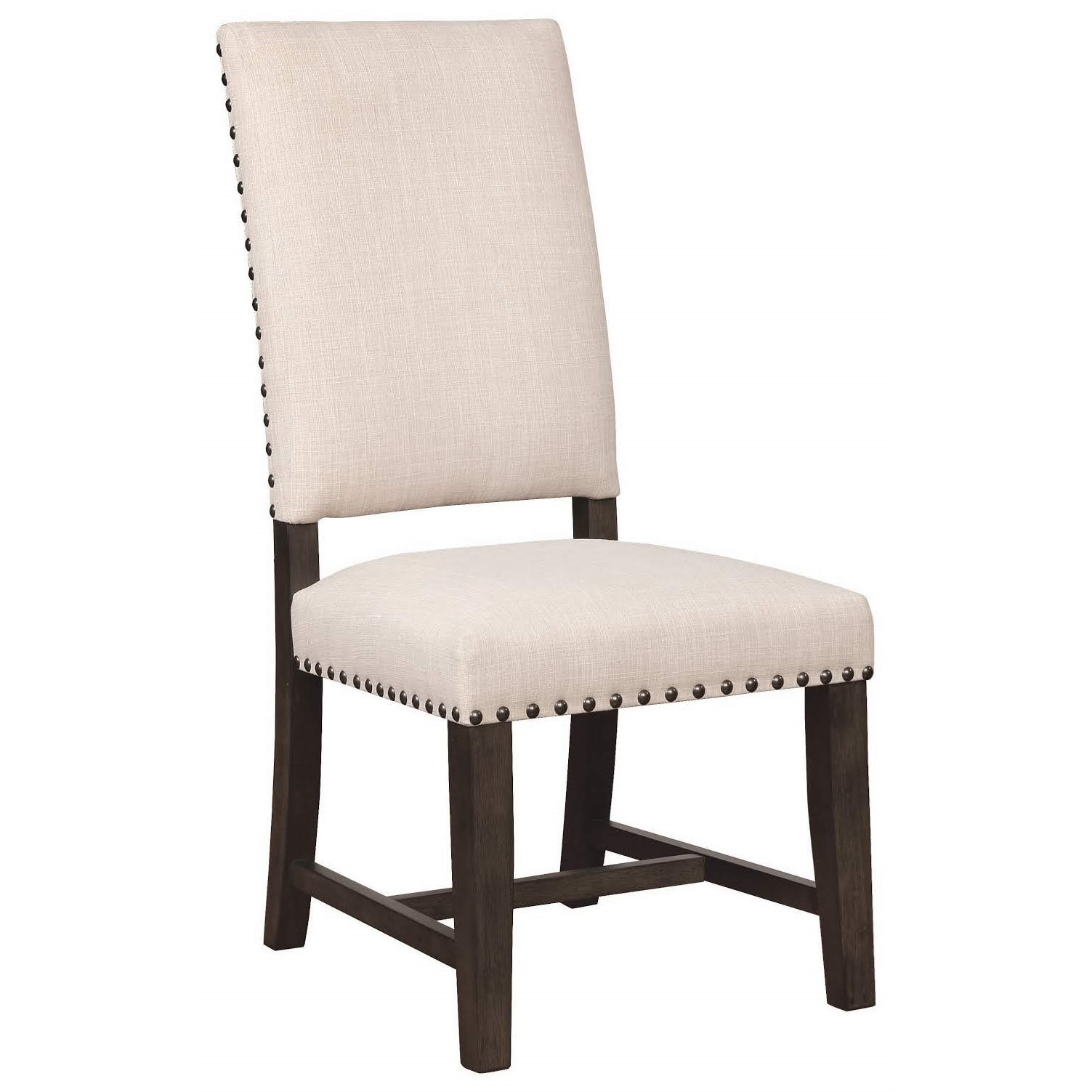 parson chairs red swivel chair scott living 1028 upholstered with nailhead trim