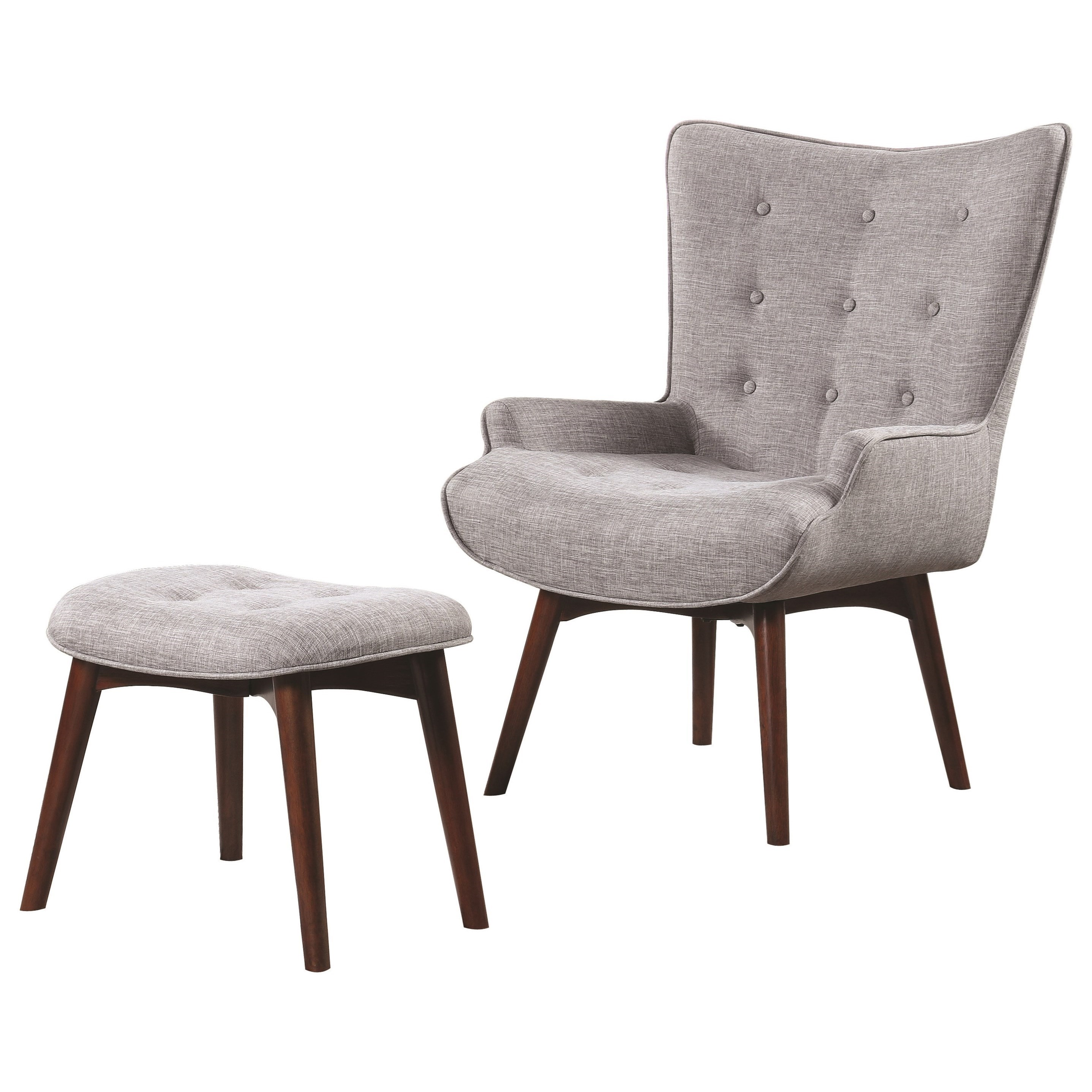 contemporary accent chair covers for computer chairs scott living 903820 mid century modern with ottoman