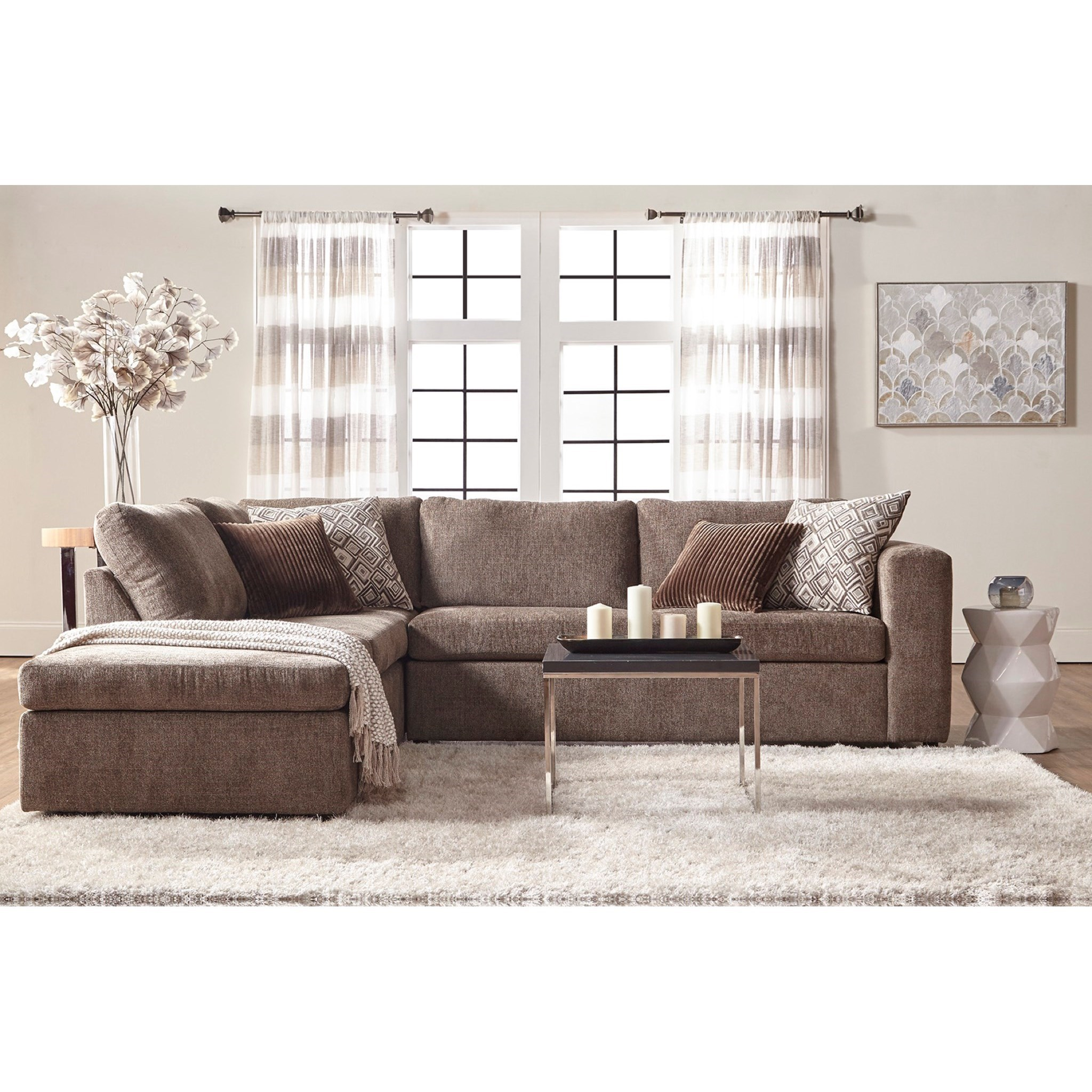 Angora Sectional Sofa With Chaise