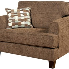 One And A Half Chair Brown Recliner Serta Upholstery By Hughes Furniture 5600 Cuddle With Block Feet