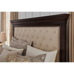 Signature Design By Ashley Brynhurst Traditional Queen Upholstered Bed With Storage Bench Royal Furniture Upholstered Beds
