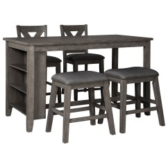 Kitchen Island Sets Outside Plans Signature Design By Ashley Caitbrook Five Piece Chair Set With Adjustable Storage