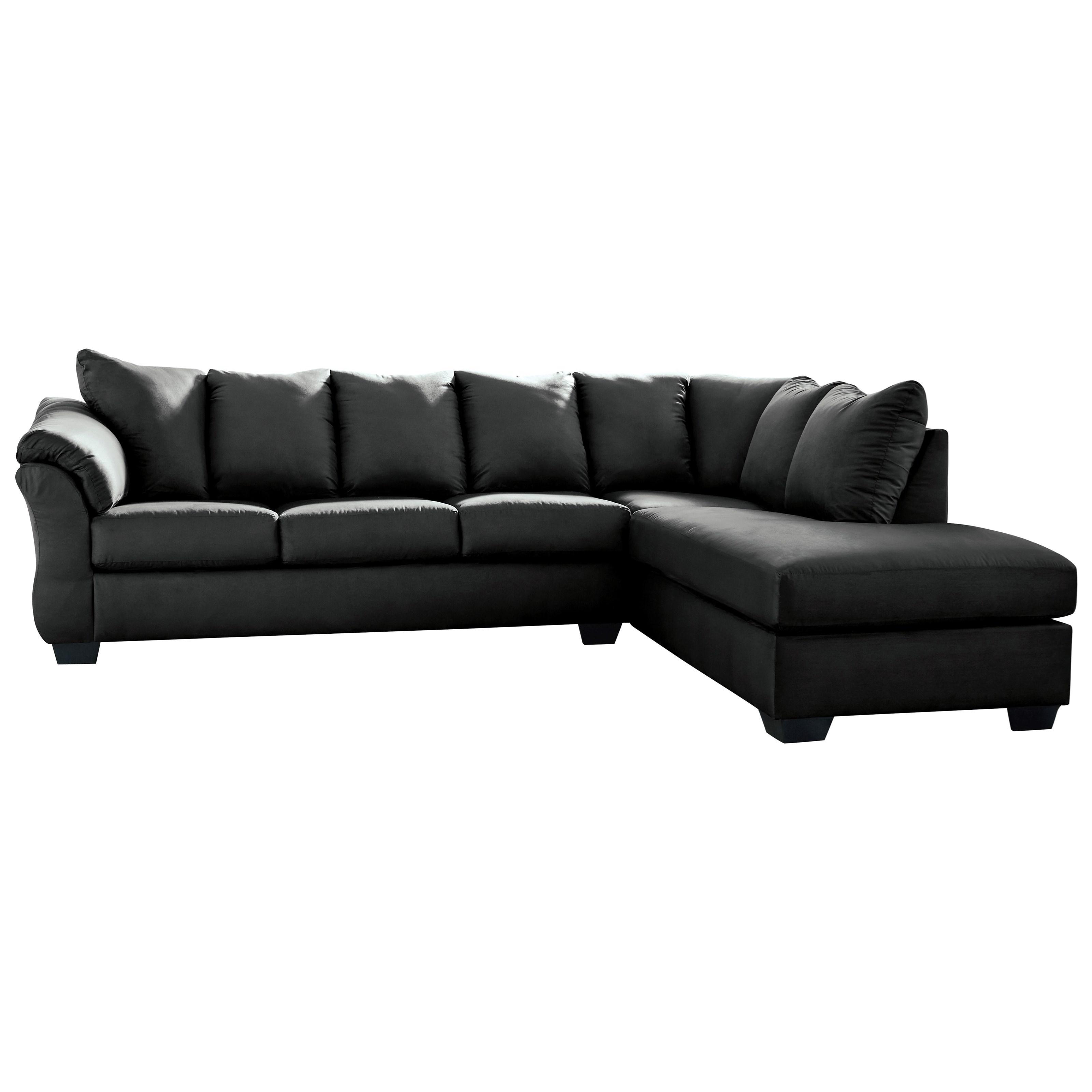 darcy black 2 piece sectional sofa