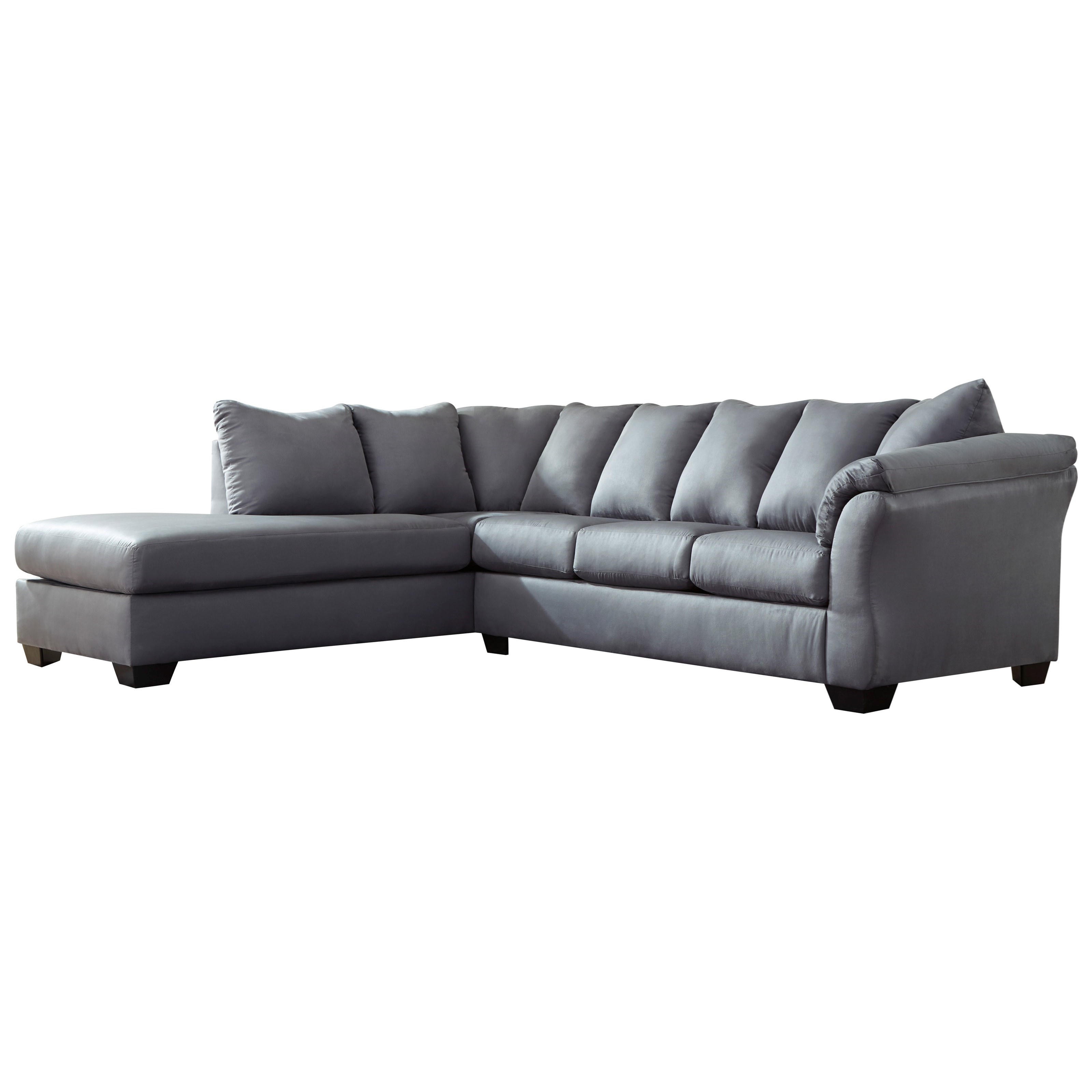 Darcy Steel 2 Piece Sectional Sofa With Chaise