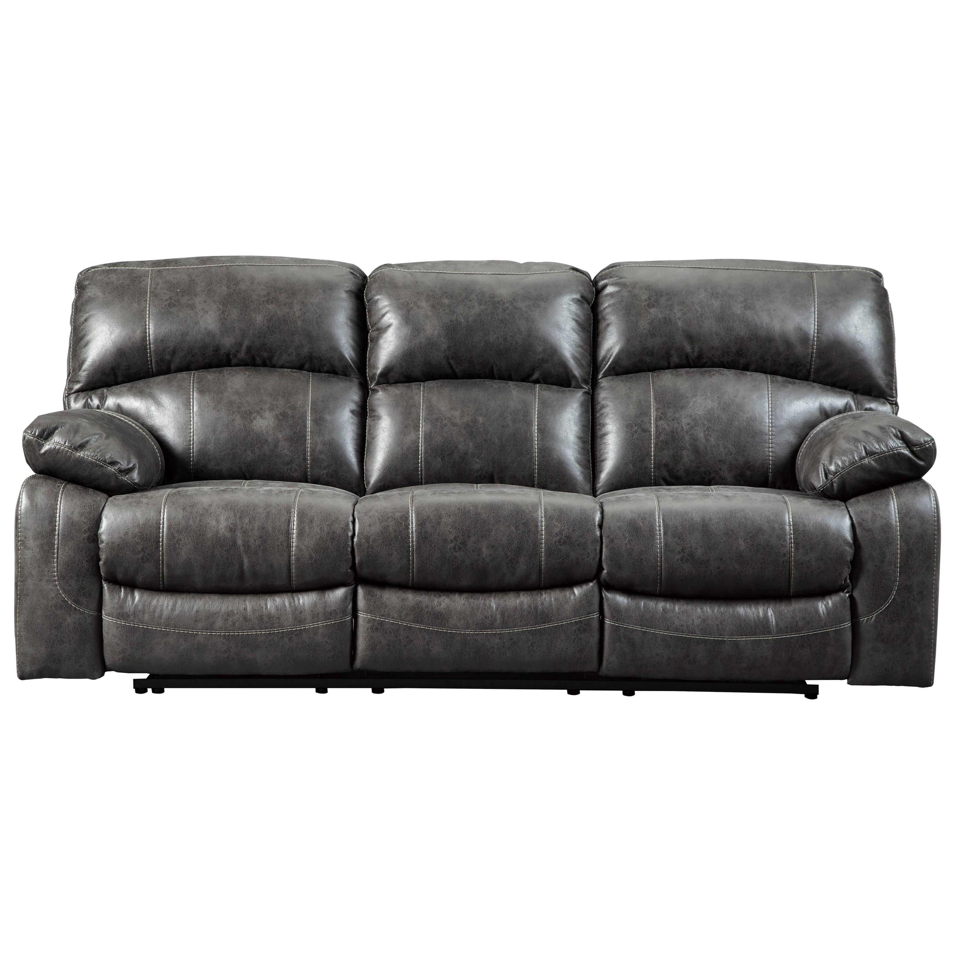 grey power reclining sofa rolf benz freistil 186 signature design by ashley dunwell 5160115 faux leather dunwellpower w adjustable headrests