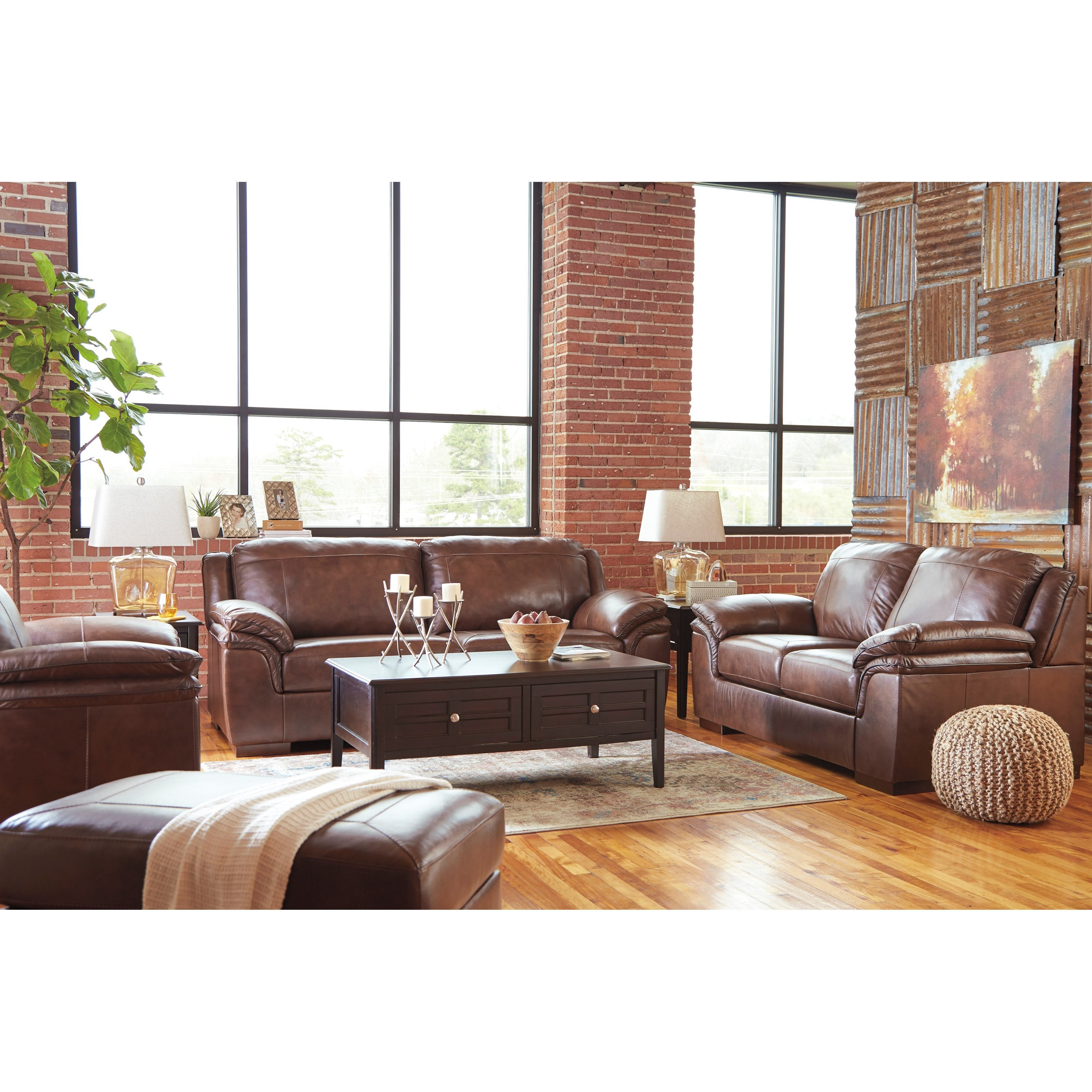 ashley living room photos of rooms with leather furniture signature design by islebrook stationary group islebrookstationary