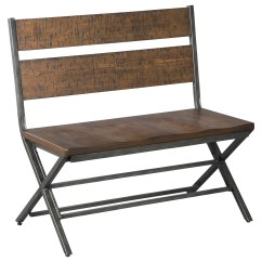 Distressed Dining Chairs Big Bean Bag Walmart Signature Design By Ashley Kavara Pine Wood Metal Double Chair