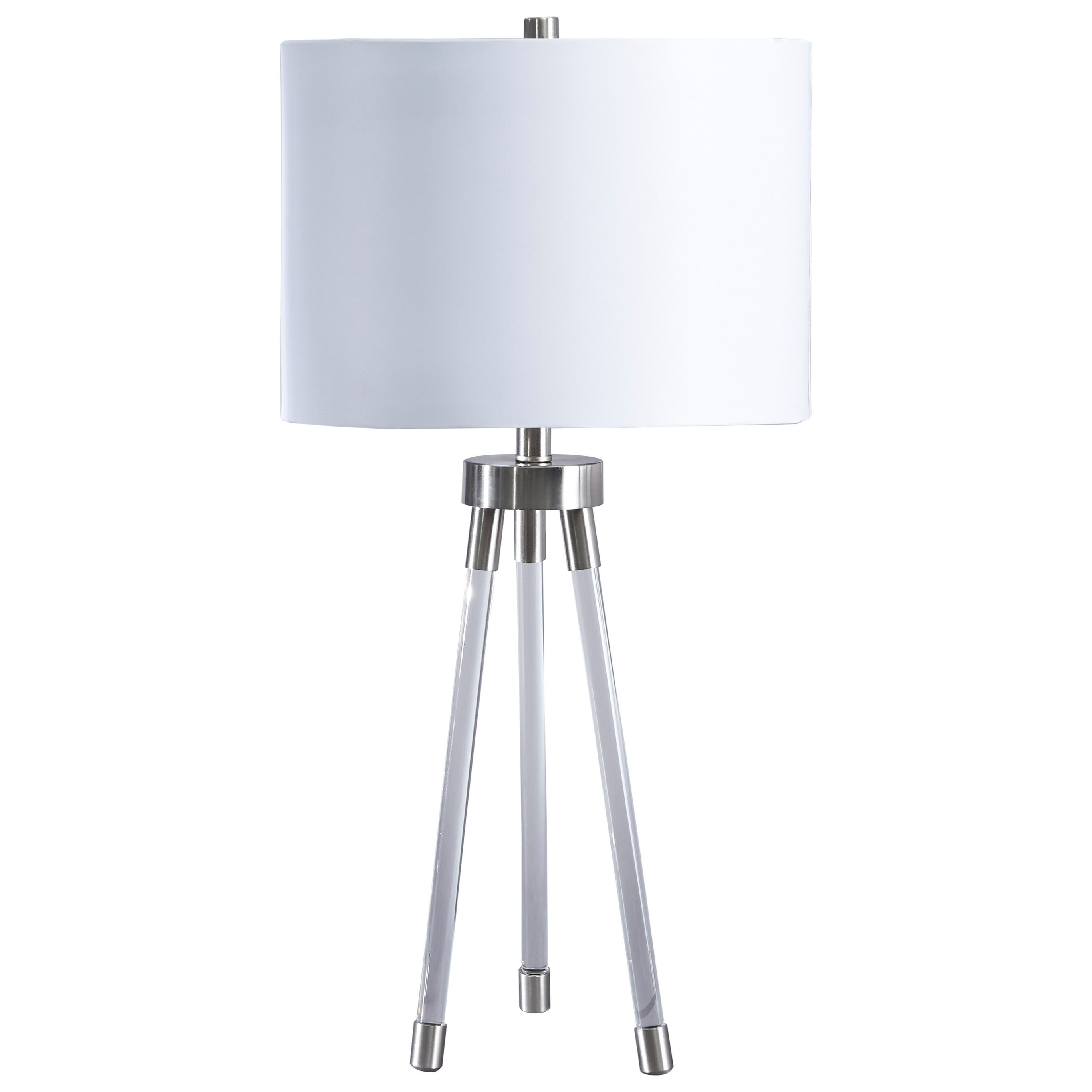 lamps contemporary idalia clear silver acrylic table lamp