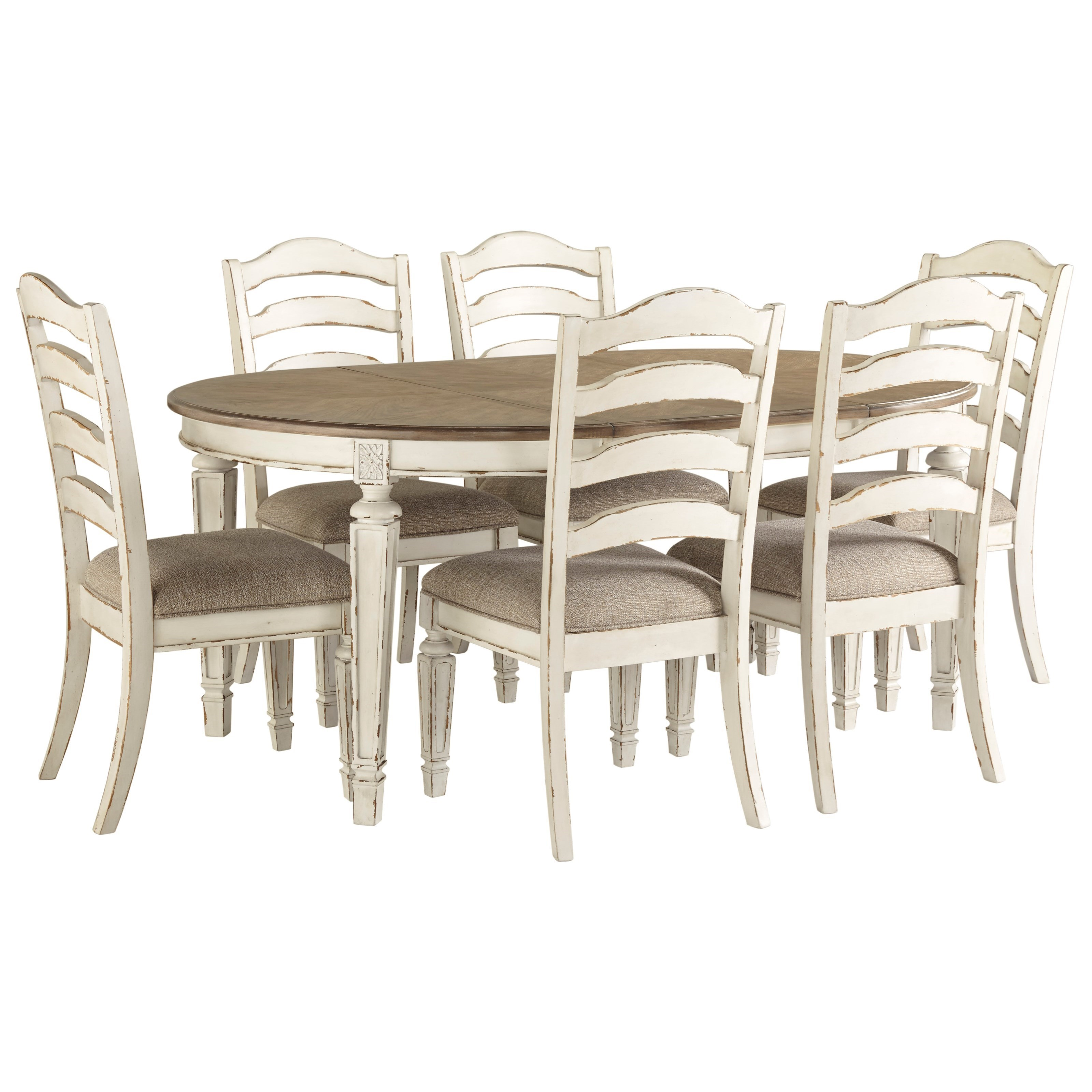 Dining Room Chair Sets Realyn 7 Piece Round Table And Chair Set By Signature Design By Ashley At Royal Furniture