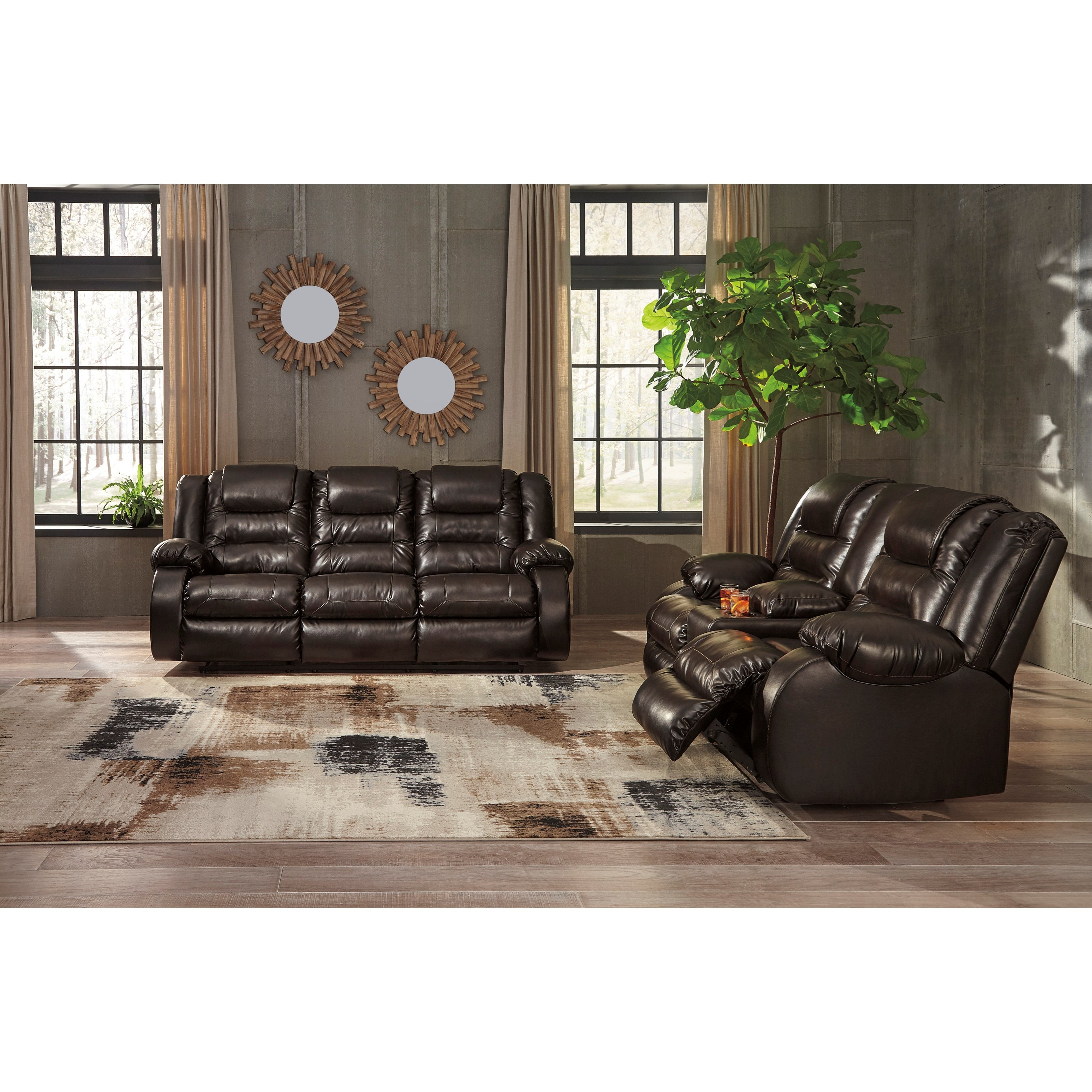 ashley living room harley davidson themed signature design by vacherie reclining group vacheriereclining