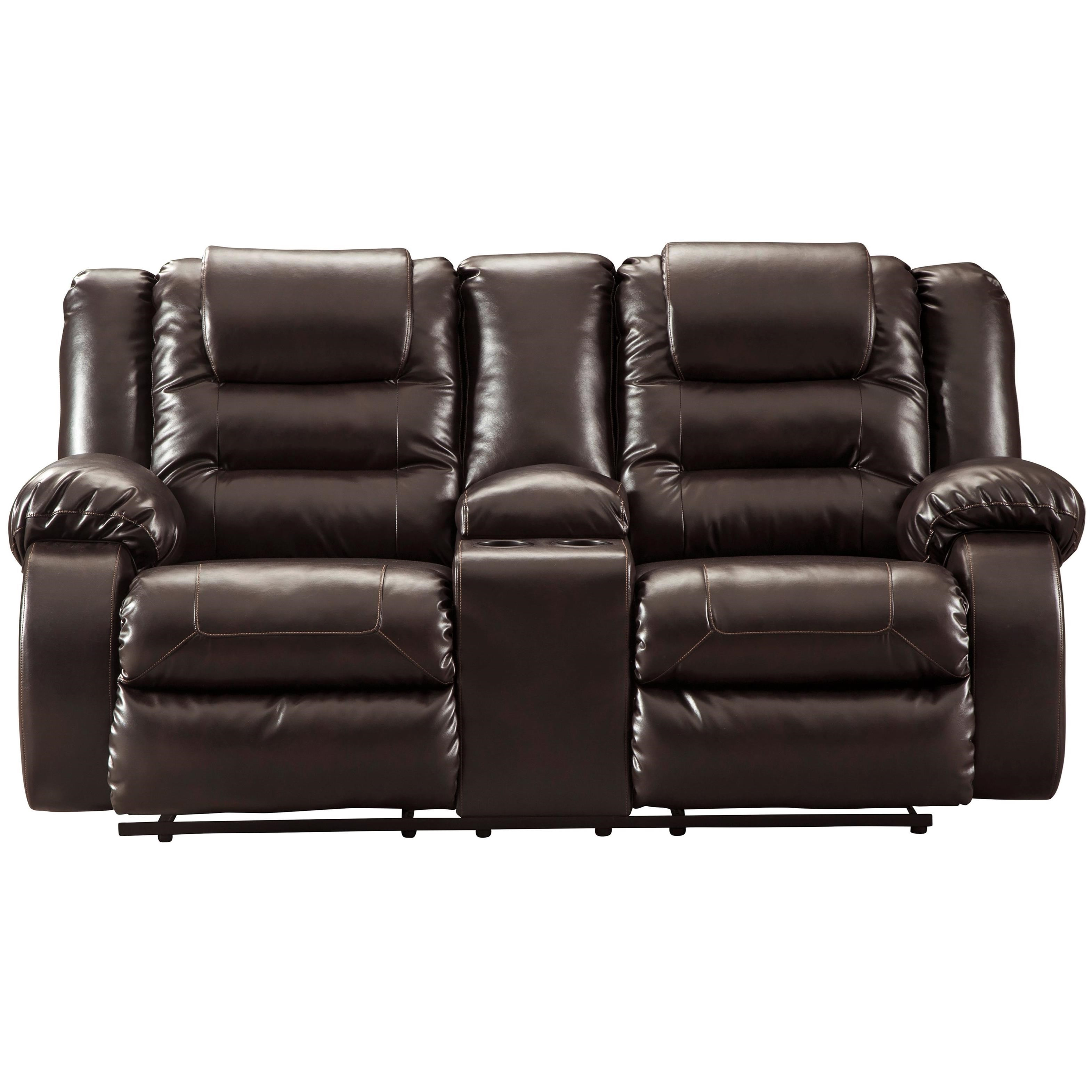 Double Recliner Chair Vacherie Casual Double Reclining Love Seat With Storage Console By Signature Design By Ashley At Royal Furniture