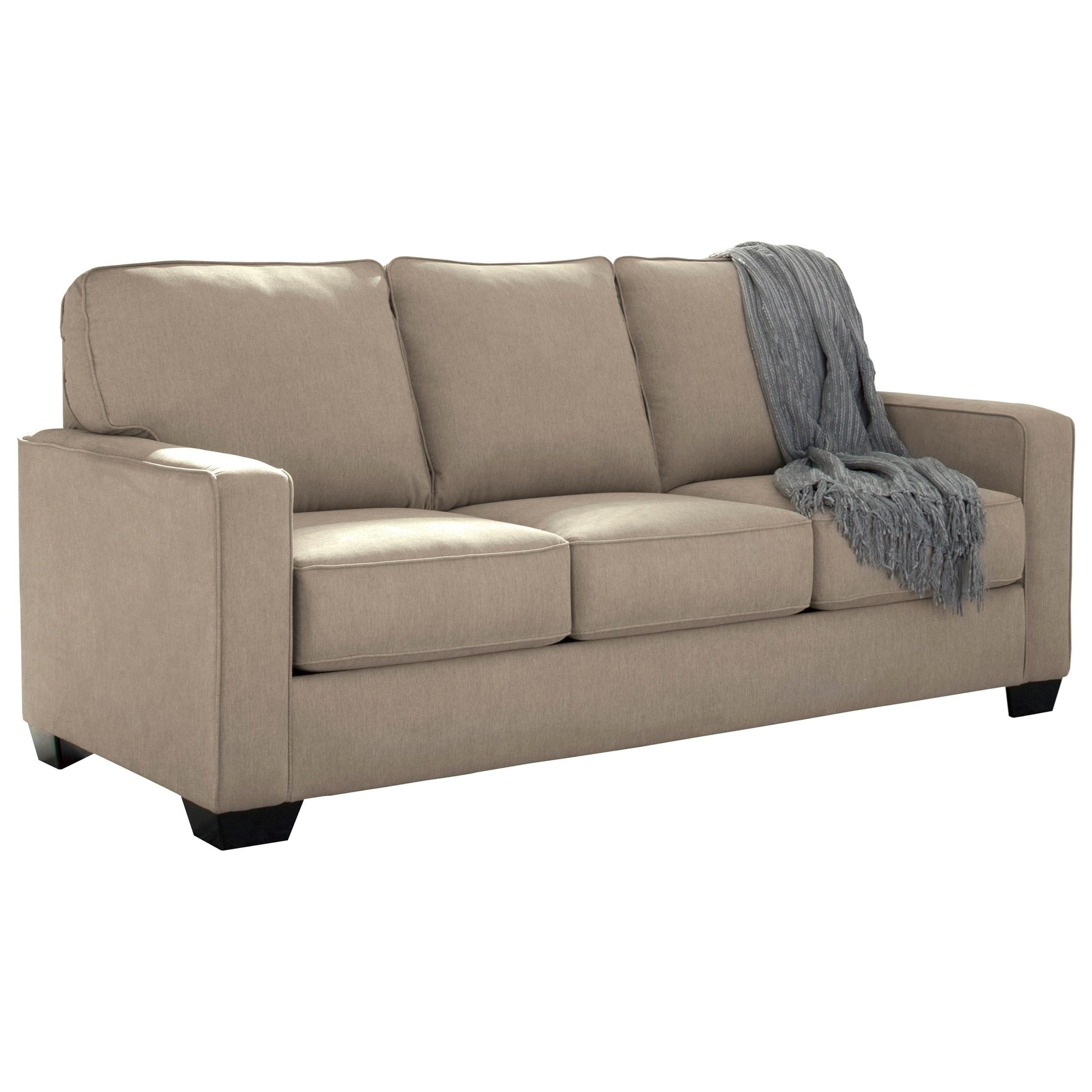 foam sofa sleeper amanda modern faux leather large sectional signature design by ashley zeb 3590236 full with memory mattress