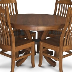 Amish Kitchen Tables Stonewall Salsa Simply Loft Nbl4848 2 Round Pedestal Table With Leaves Loftround