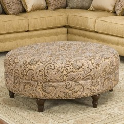 Accent Chairs With Ottomans Lift Walgreens Smith Brothers And Sb 998 50 Round Traditional Styled Ottoman Gill Furniture