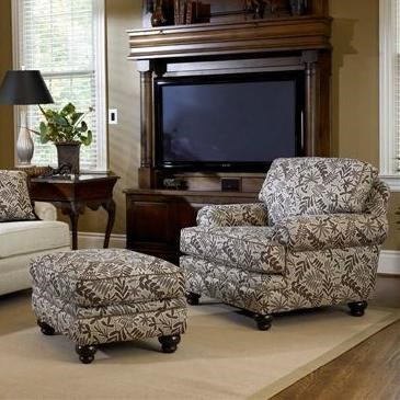 chairs and ottomans upholstered retro leather chair footstool smith brothers build your own 5000 series ottoman with turned legs by