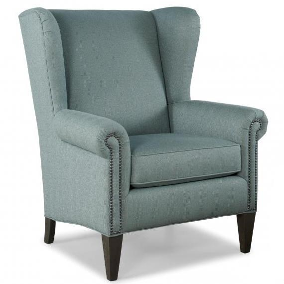 traditional wingback chair electric photos smith brothers 505 30 wing back w nailhead trim dunk bright furniture chairs