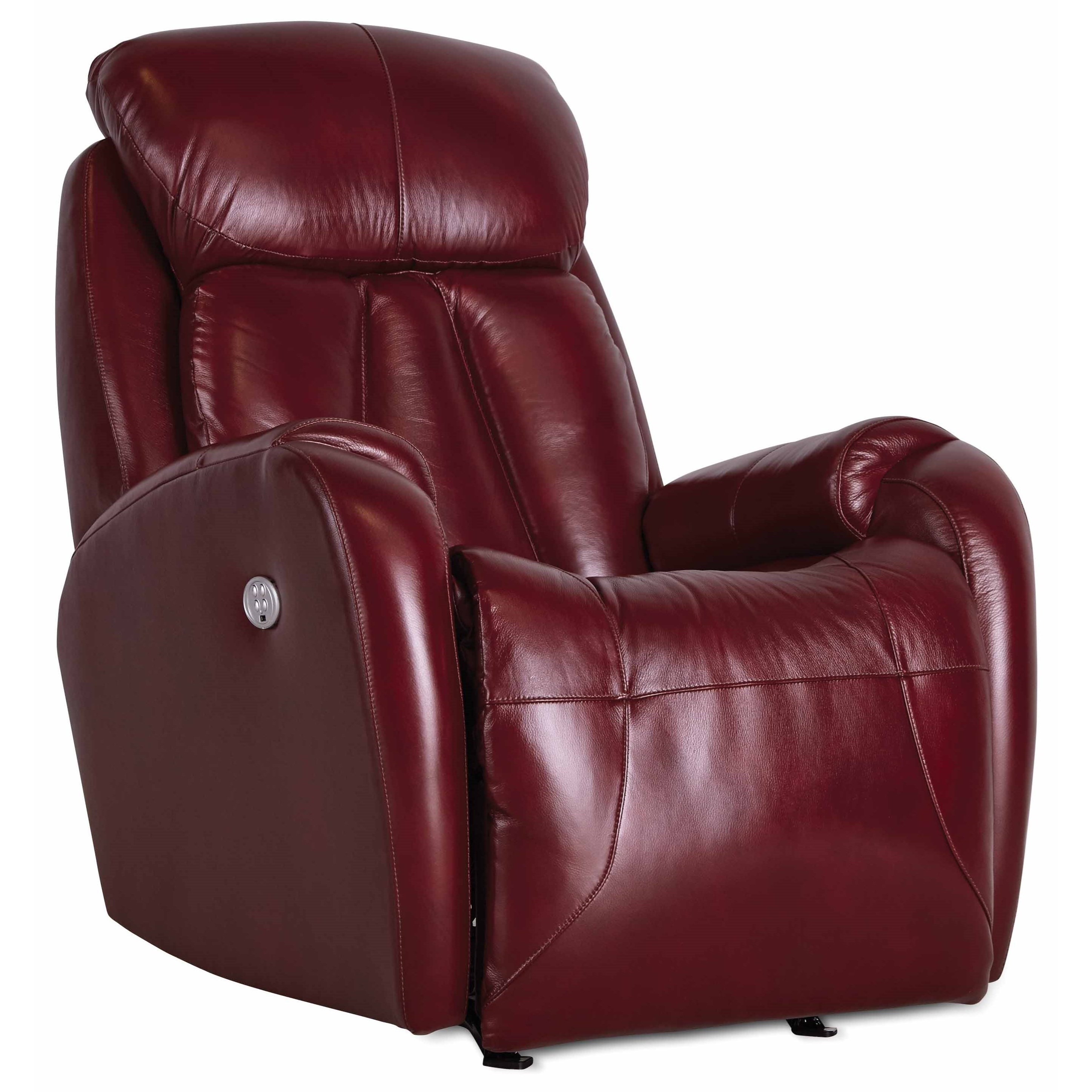 wall hugger recliner chair leather covers for sale southern motion hard rock 6135 with power rockwall headrest