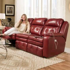 Double Recliner Chairs Swivel Chair Hardware Parts Southern Motion Inspire Reclining Sofa With Power Headrest By