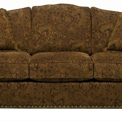 Traditional Sofa Sleeper Dallas Cowboys Sunset Home 326 Camel Back Queen Gel With Rolled Arms And Bun Feet