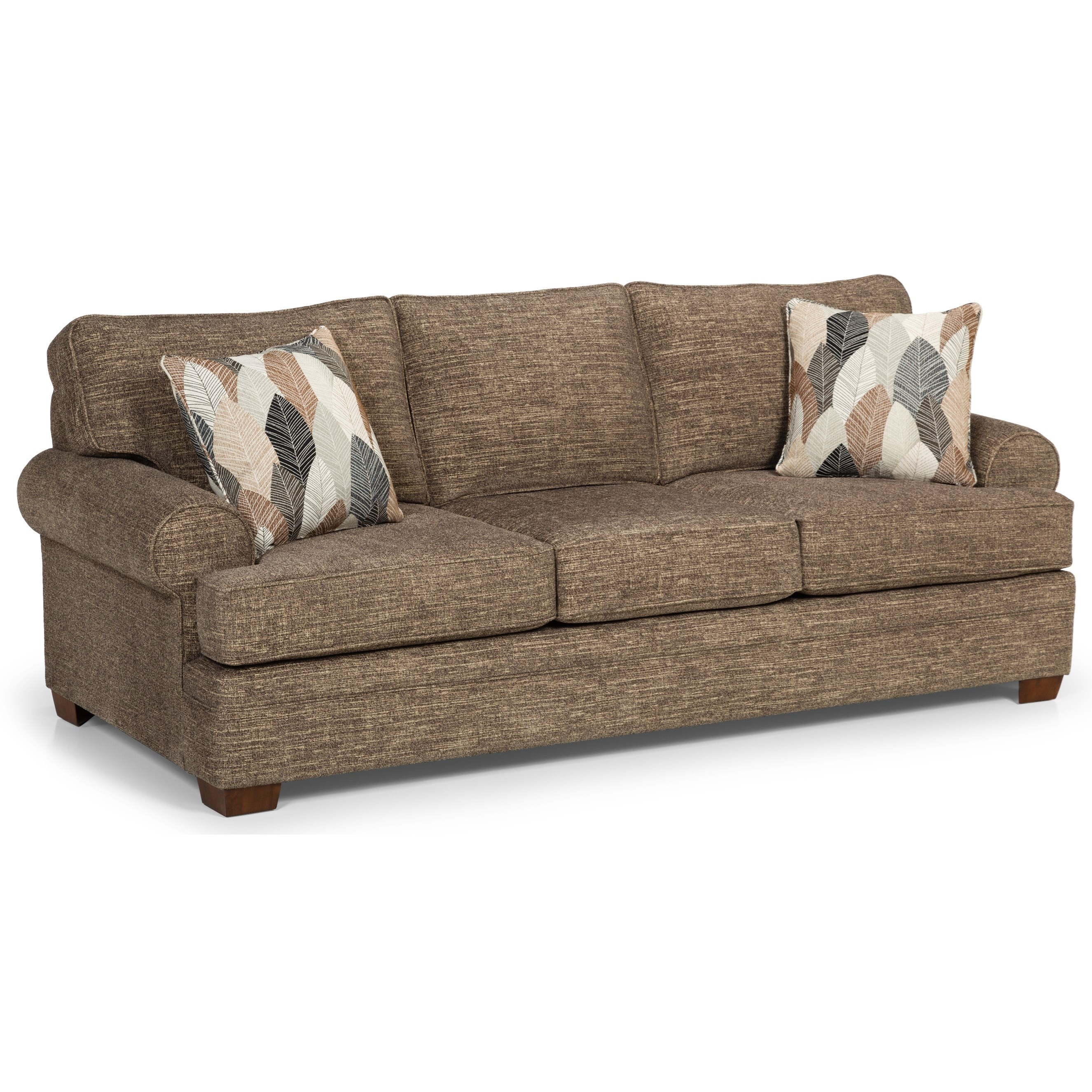 one arm sofa name really deep uk sunset home 422 casual with wide rolled arms sadler s