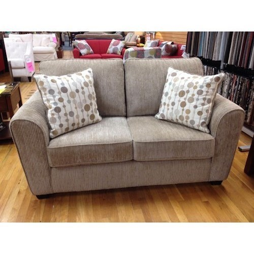 sleeper sofa no arms leather types stanton 643 casual twin gel loveseat with flair
