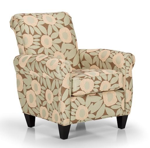 transitional accent chairs rocking breastfeeding chair stanton and ottomans with rolled arms tapered legs