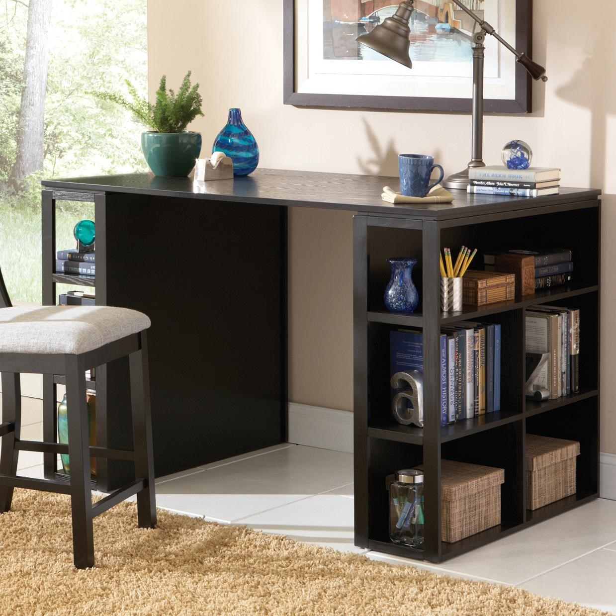 Steve Silver Bradford Contemporary Writing Desk With Side Shelf Storage Wilsons Furniture