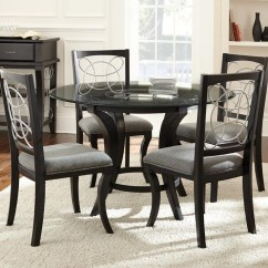 Steve Silver Dining Chairs Posture Chair Reddit Cayman 5 Piece Glass Top Set Wayside Furniture