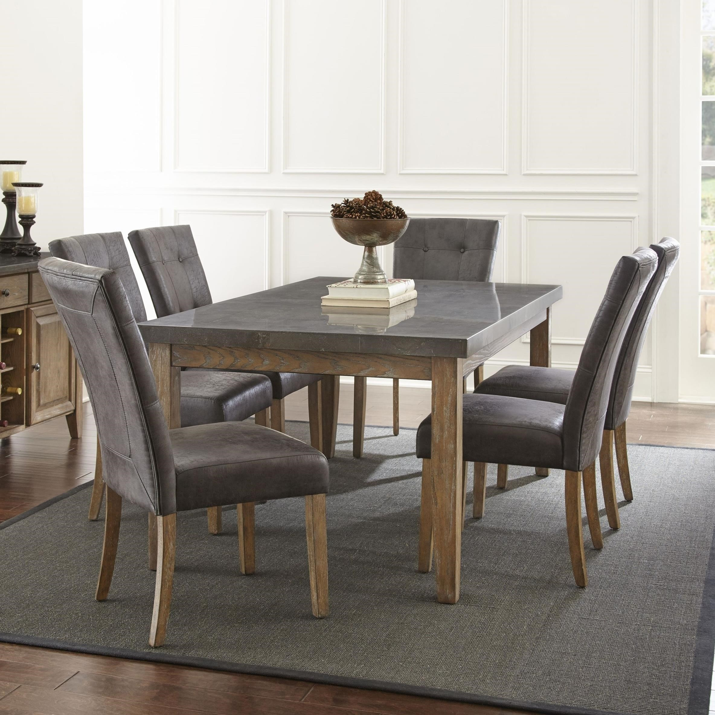 steve silver dining chairs office chair no wheels debby 7 piece transitional table and set with debby7