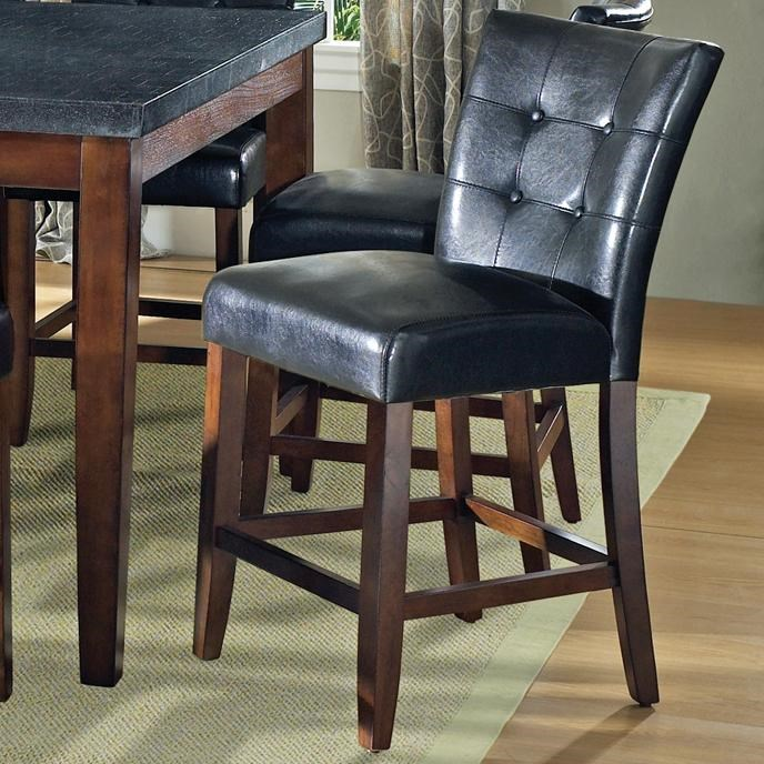 black parsons chair mom to be for baby shower steve silver granite bello vinyl counter height belloblack
