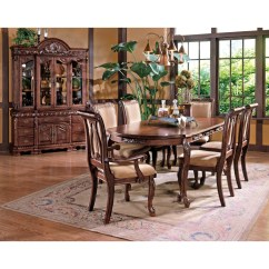 Steve Silver Dining Chairs Bentwood Rocking Chair Harmony 7 Piece Traditional Oval Table And Set