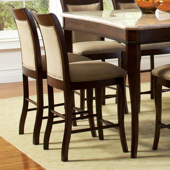 chair stool with back serta jennings review steve silver marseille transitional counter height upholstered seat and