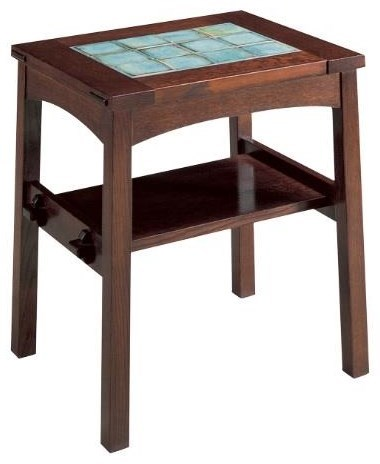 oak mission classics tile top end table by stickley at williams kay